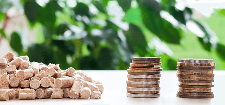 Cost Efficient Wood Pellets for Biomass Boilers