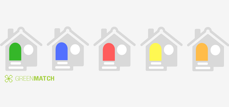 Houses with coloured doors