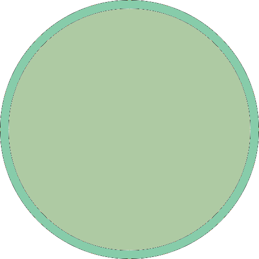 Light green circle