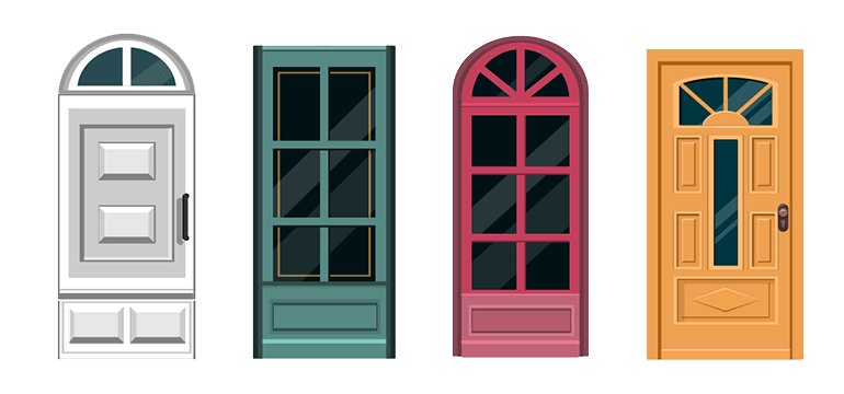 uPVC Door Style and Colours