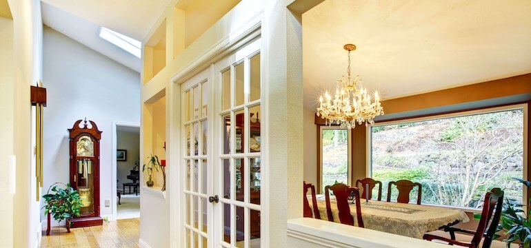 Image of a uPVC interior french door