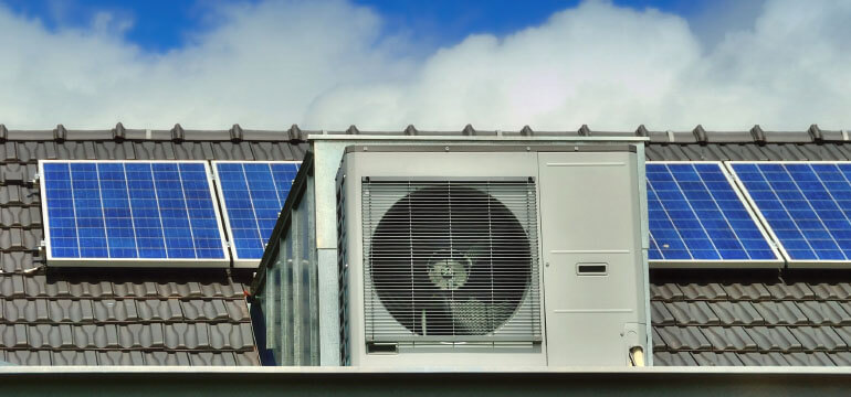 Heat Pump on Roof